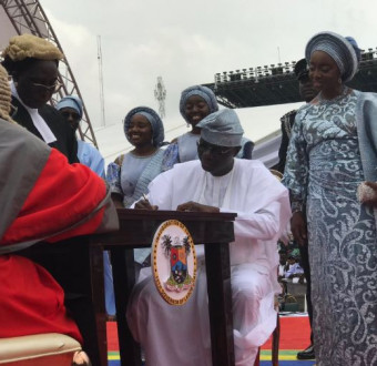 Its official! Babajide Sanwo-Olu sworn in as Governor of Lagos State