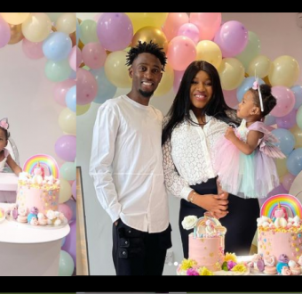 Super Eagles midfielder, Wilfred Ndidi and wife D... Image