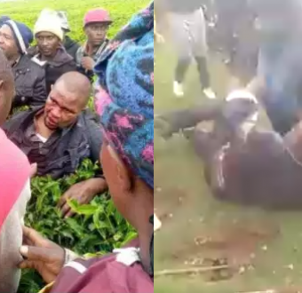 Man beaten up by locals after he offered a school... Image