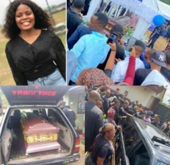 Photos from the funeral of Iniubong Umoren, the j... Image