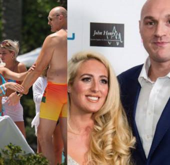 Tyson Fury�s pregnant wife, Paris hides wedding r... Image